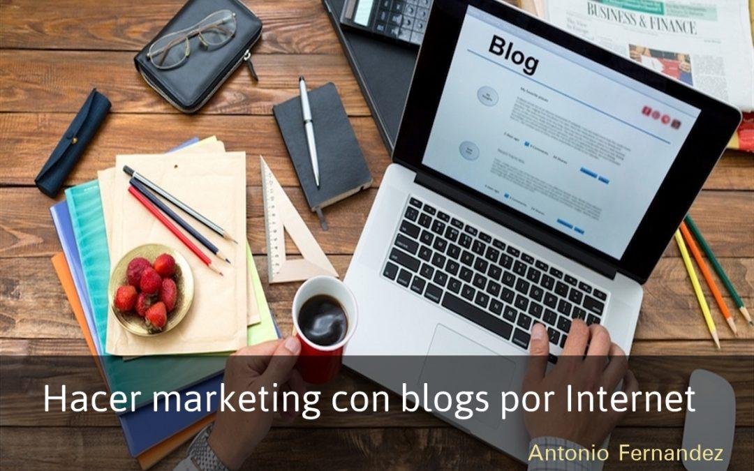 Hacer marketing con blogs por Internet
