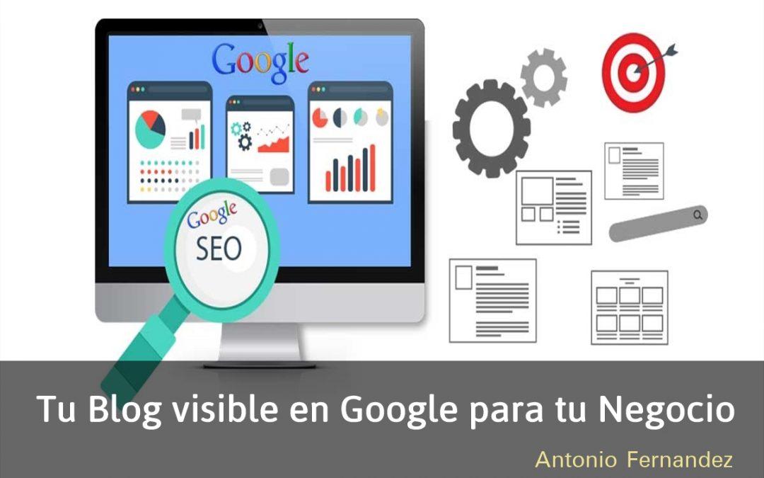 Tu blog visible en Google para tu negocio